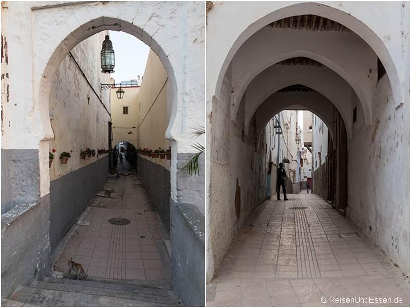 Gassen und Tore in der Medina von Rabat