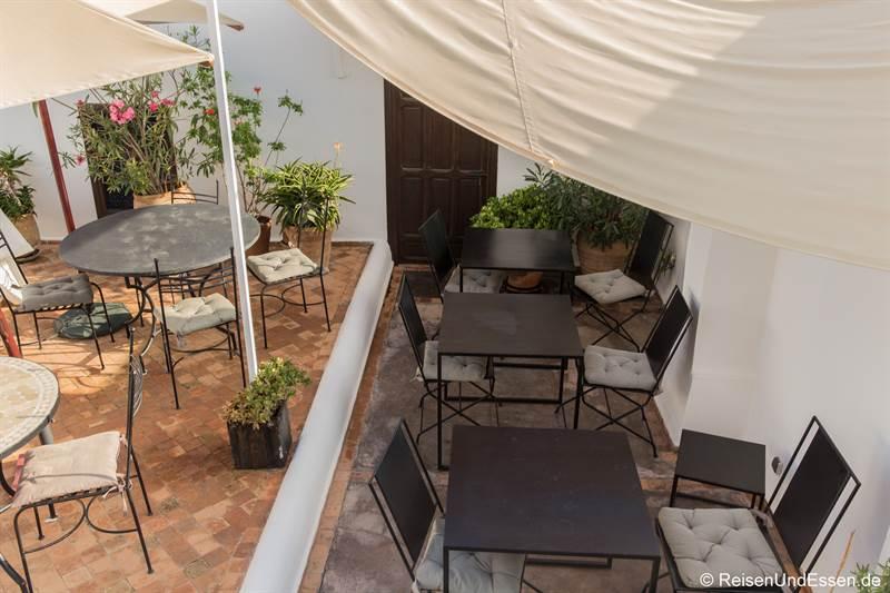 Dachterrasse im Riad Dar Soufa in Rabat