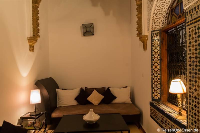 Sitzecke im Riad Dar Soufa in Rabat