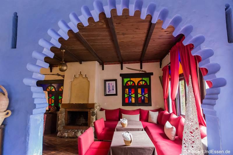 Frühstücksraum im Hotel Dar Chefchaouen