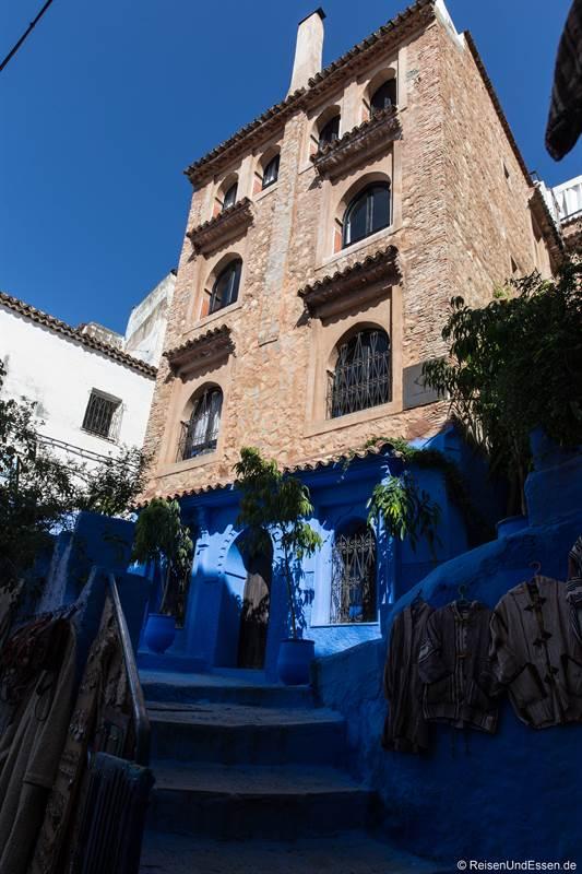 Haus in der blauen Stadt