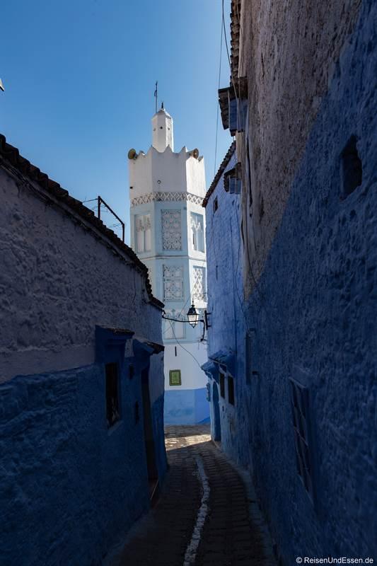 Moschee in der blauen Stadt Chefchaouen