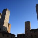 Geschlechtertürme in San Gimignano und Gassen in Colle di Val d'Elsa