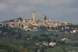 Unsere Rundfahrt in der Toskana und erster Anlauf in San Gimignano