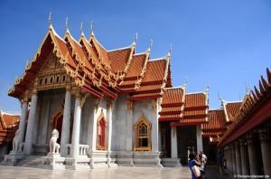 Wat Benchamabopith (Marmorpalast) und Wat Saket in Bangkok