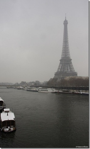 Tour Eiffel bei Schneefall