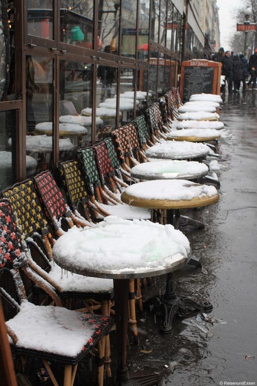 Paris bei Schnee und Rückreise