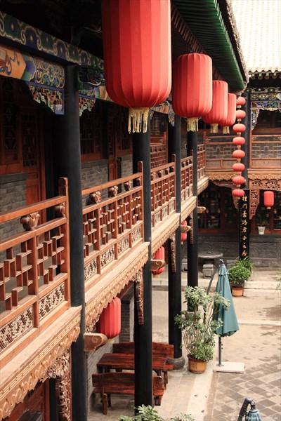 De Chao Ge Hotel in Pingyao (Innenhof)