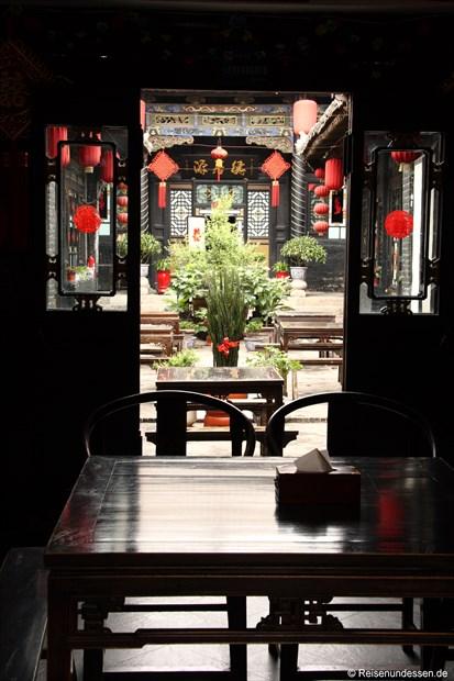 Pingyao - Innenhof eines Restaurants