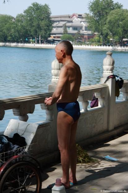Schwimmer am Houhai-See
