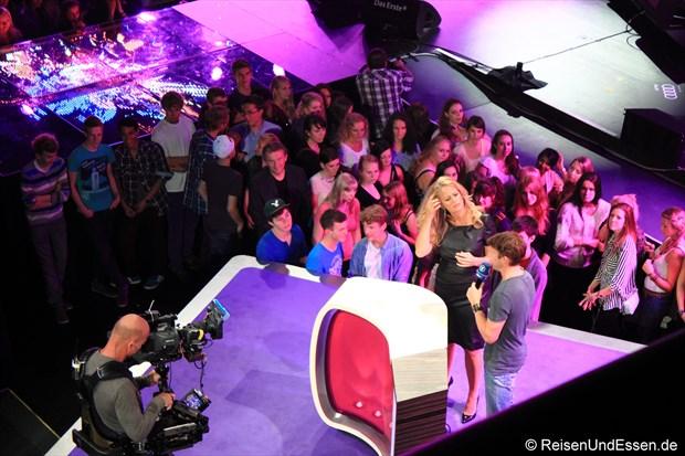 Barbara Schöneberger und James Blunt beim SWR3 New Pop Special