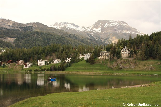 Angler im St. Moritzersee