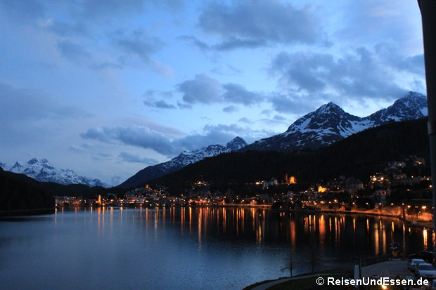 Abends am St. Moritzersee