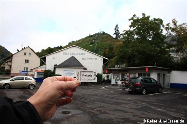 Talstation der Sesselbahn Vierseenblick in Boppard