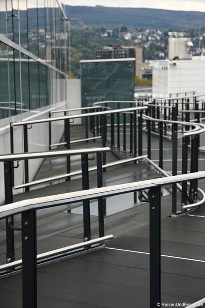 Auf dem Dach des Forum Confluentes
