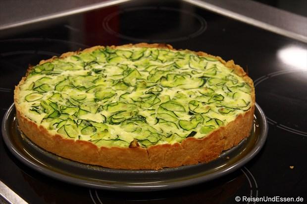 Kastanien-Quiches mit Zucchini