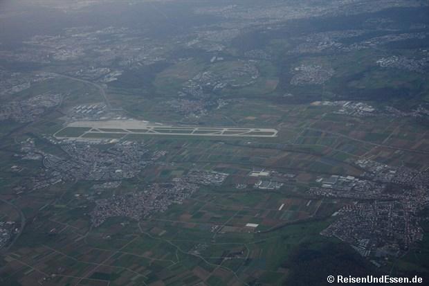 Blick auf den Flughafen Stuttgart