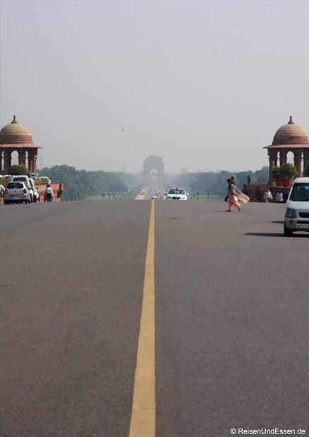 Blick vom Präsidentenpalast (Rashtrapati Bhavan) zum India Gate