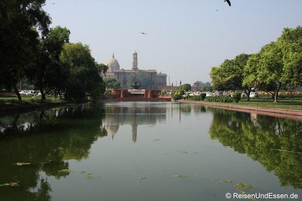 Blick vom Rajpath Richtung Rashtrapati Bhavan