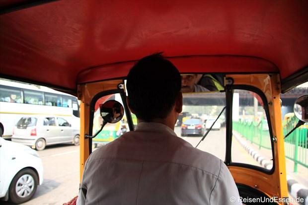 Unterwegs mit dem Tuk Tuk in Delhi