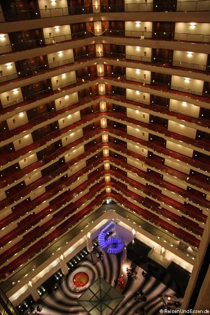 Blick im Le Meridien Delhi vom 17. Stockwerk