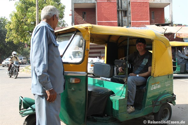 Erste Tuk Tuk Fahrt in Delhi