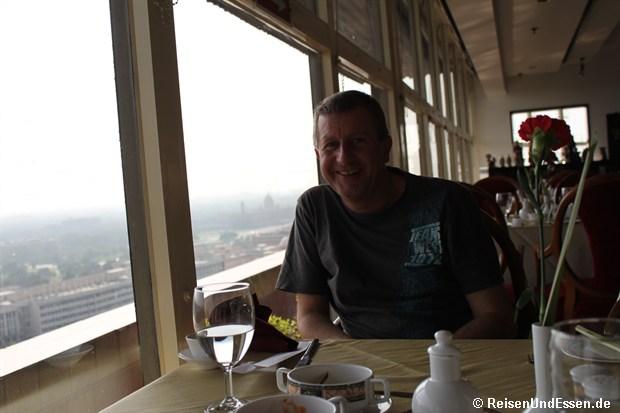 Im Restaurant vom Le Meridien Delhi