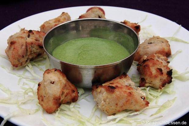 Tandori Chicken mit Dipp