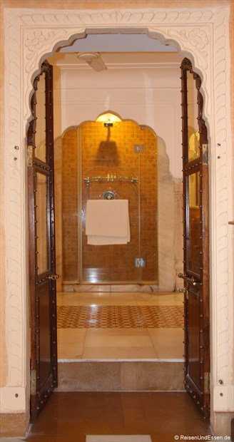Samode Haveli - Eingang zu unserem Bad