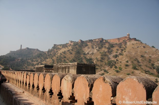 Auf der Terrasse im Fort Amber