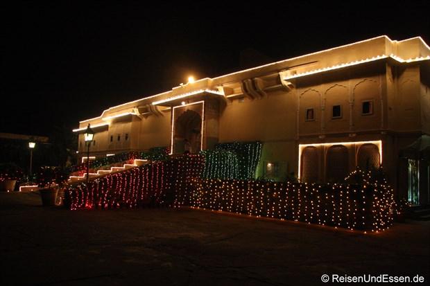 Samode Haveli - Eingang bei Nacht
