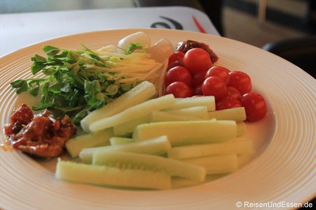 Frühstück - frisches Gemüse
