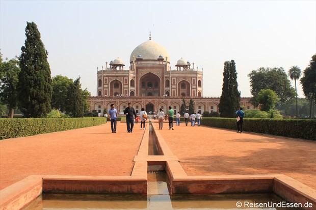 Blick auf das Humayun Mausoleum in Delhi