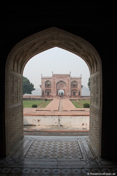 Blick auf Naggarkhana vom Mausoleum Itimad-ud-Daulah in Agra