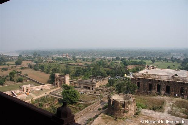 Blick vom Fort auf die Landschaft in Orchha