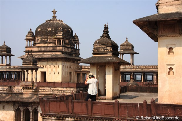 Fotoshooting im Fort in Orchha