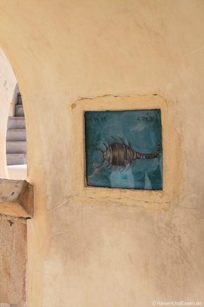 Sternzeichen Skorpion im Observatorium