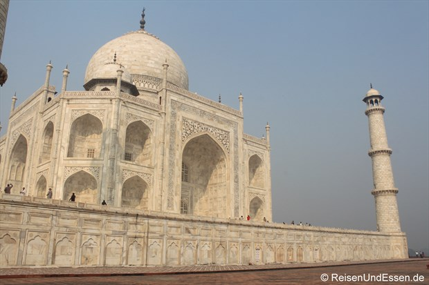 Teilansicht vom Taj Mahal