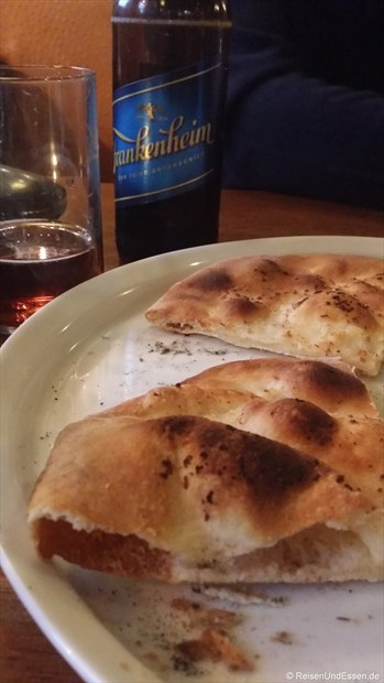 Pizzabrot im Ristorante Arlecchino
