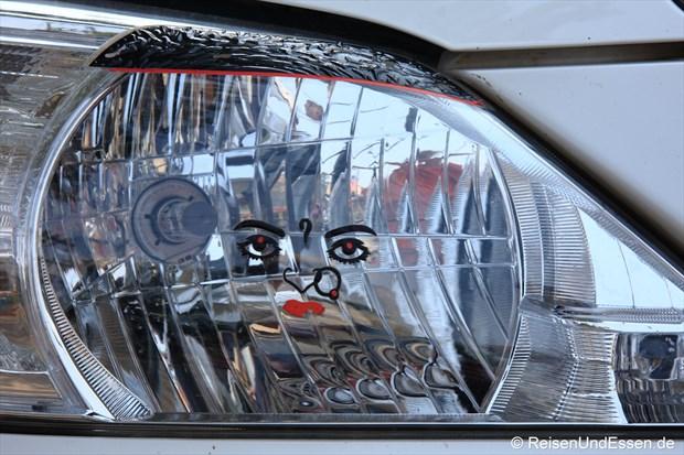 chweinwerfer unseres Autos