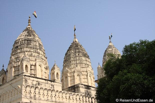 Blick auf die östliche Tempelgruppe in Khajuraho