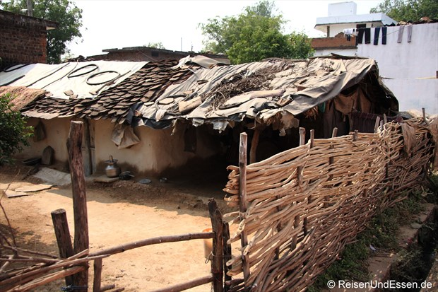 Lehmhäuser in Khajuraho