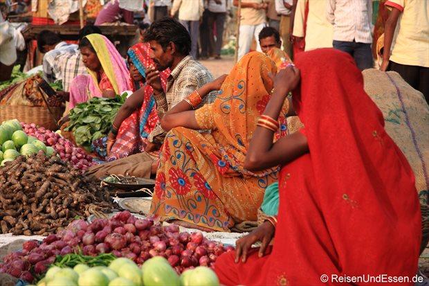Auf dem Markt in Khajuraho