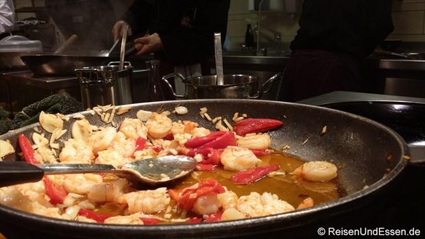 Garnelen mit Paprika