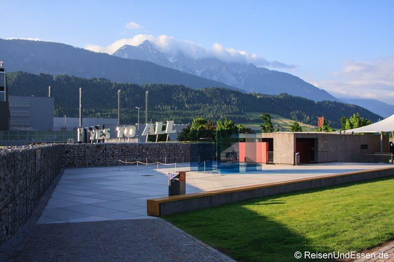 Gelände von Swarovski in Wattens (Tirol)