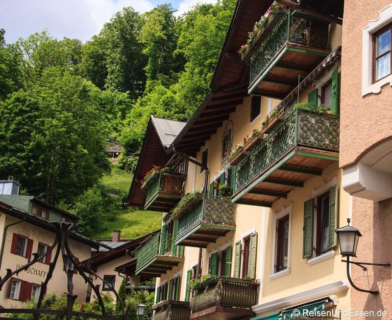 Hausfassade am Marktplatz in Berchtesgaden