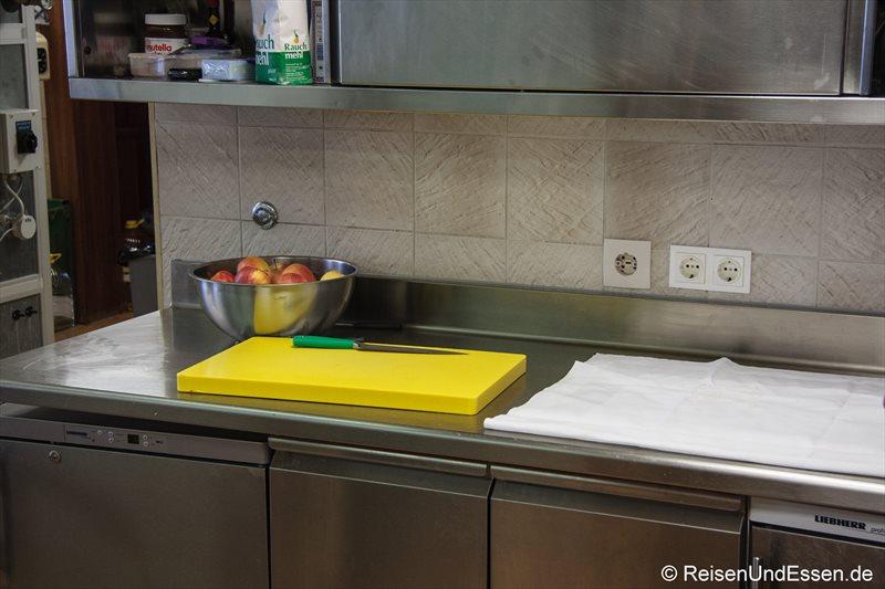 Noch ist die Küche ganz friedlich ...