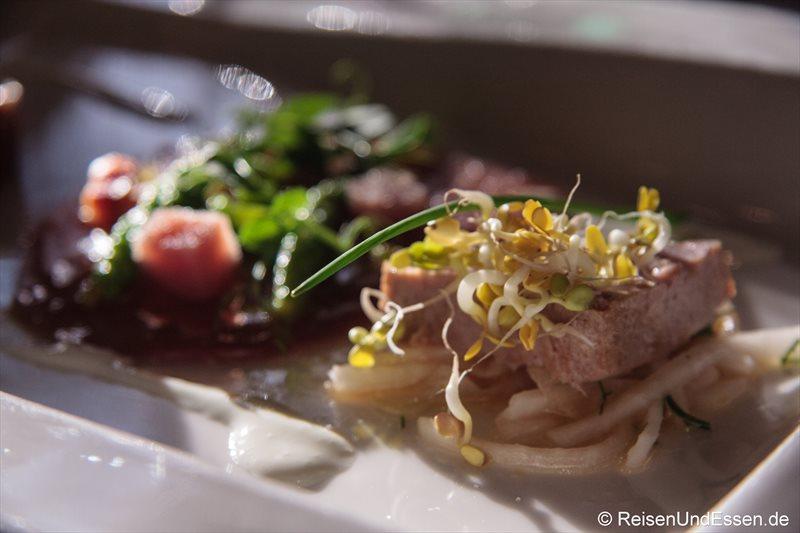 Variationen vom Thunfisch (hier: gegrillt)