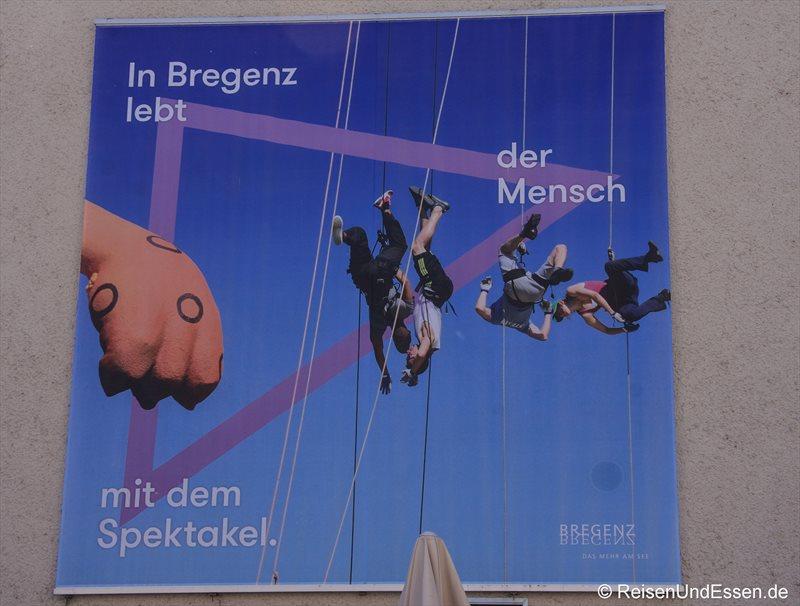 Plakat in Bregenz
