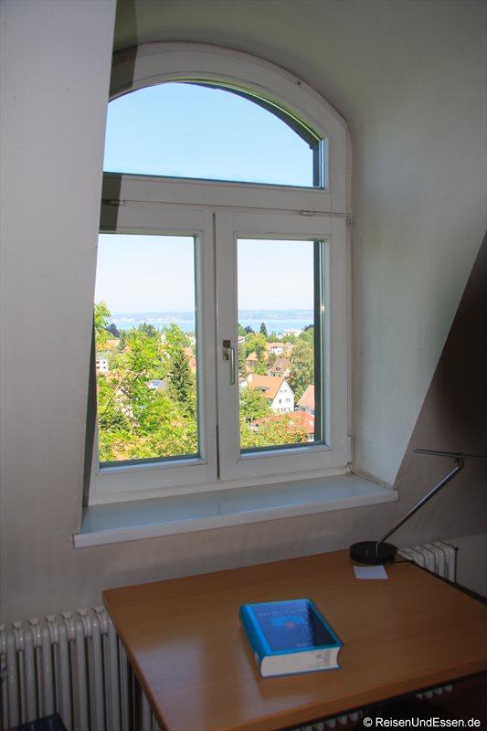 Blick auf den Bodensee von der Landesbibliothek Vorarlberg